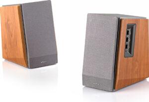 "BOXE EDIFIER 2.0, RMS: 60W (2 x 13W, 2 x 17W), telecomanda wireless, volum, bass, treble, dual RCA, brown, ""R1600TIII"" (include TV 8 lei)"