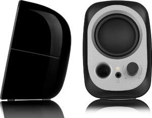 "BOXE EDIFIER 2.0, RMS: 4W (2 x 2W), bass reflex port, USB power, black, ""R12U"" (include TV 0.75 lei)"