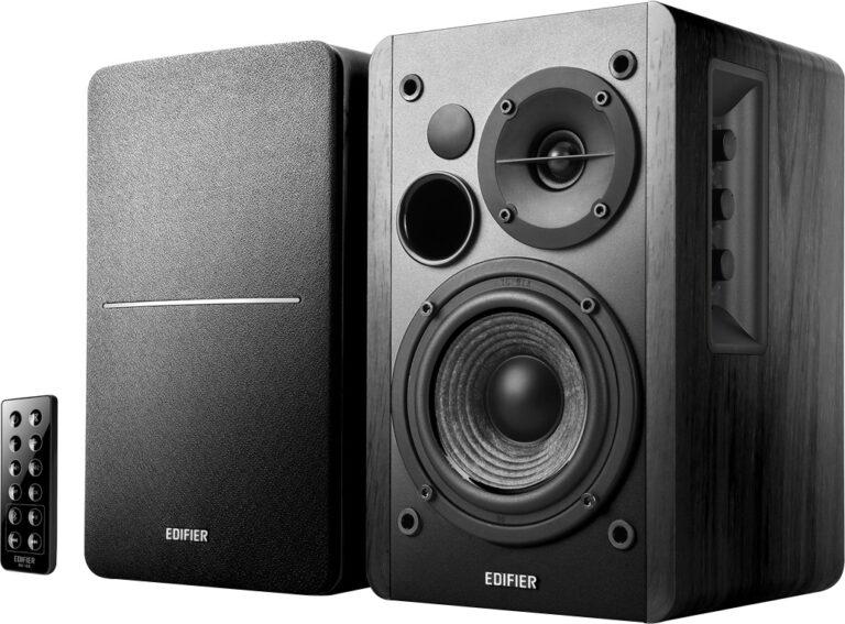 "BOXE EDIFIER 2.0, RMS: 42W (2 x 21W), bluetoth telecomanda wireless, volum, bass, treble, optical, black, ""R1280DB"" (include TV 8 lei)"