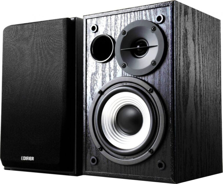 "BOXE EDIFIER 2.0, RMS: 24W (2 x 12W), volum, bass, 220V alimentare, black ""R980T"" (include TV 8 lei)"