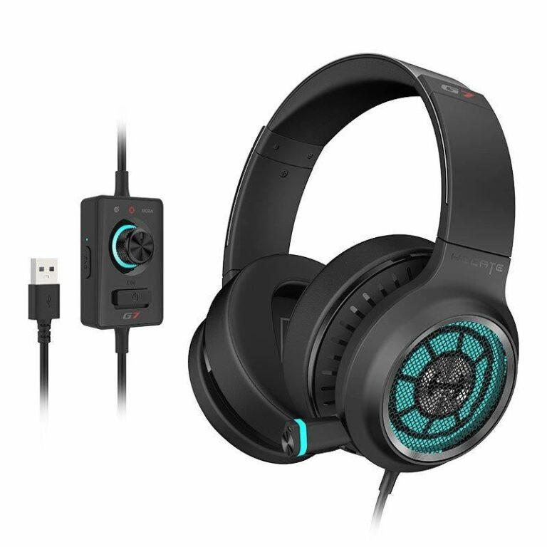 "CASTI EDIFIER cu fir, tip gaming, utilizare multimedia (PC and more), microfon pe casca, detasabil, negru, ""G7-BK"" (include TV 0.75 lei)"