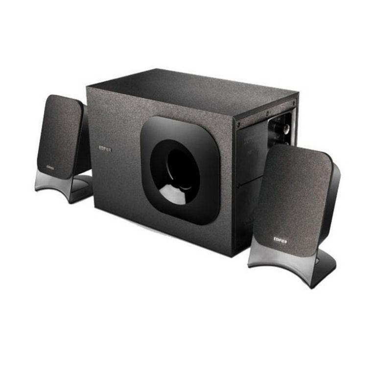 "BOXE EDIFIER 2.1, RMS: 27W (2 x 7.5W, 1 x 12W), telecomanda pe fir, Iesire casti; raport semnal-zgomot: #85dBA; frecventa raspuns – sateliti: 140Hz – 20kHz, subwoofer: 20Hz – 130kHz, black, ""M1370"" (include TV 3 lei)"
