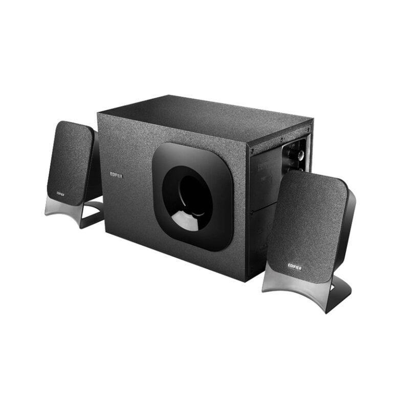 "BOXE EDIFIER 2.1, RMS: 34W (2 x 8W, 1 x 18W), bluetooth, volum, bass; raport semnal-zgomot: #25dBA, frecventa raspuns – sateliti: 135Hz – 20kHz, black, ""M1370BT"" (include TV 3 lei)"