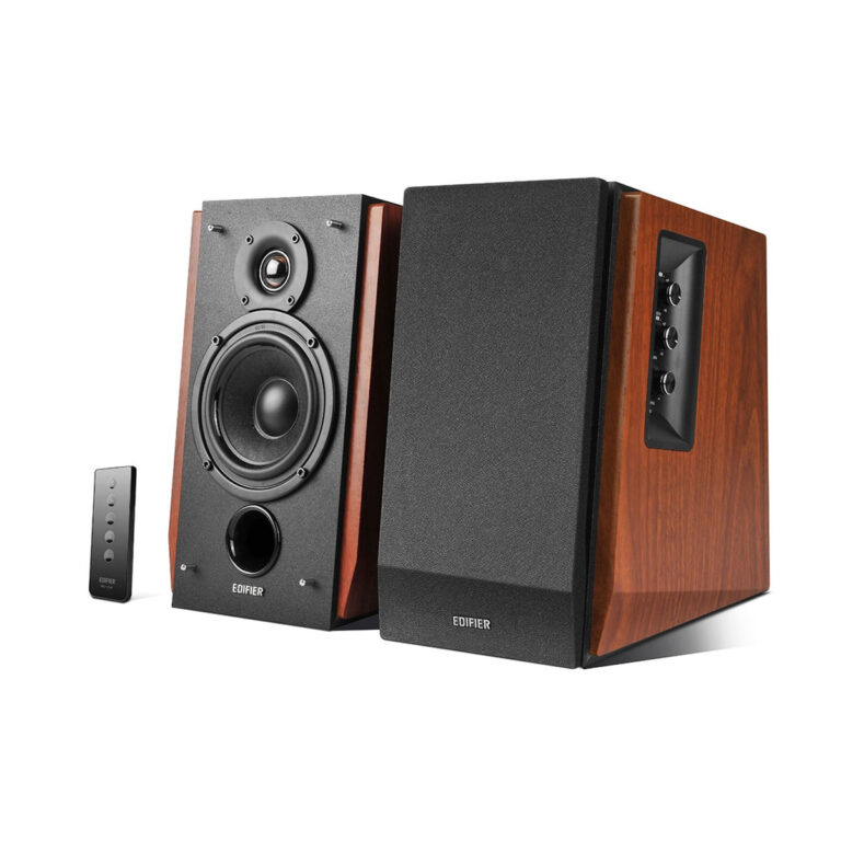 "BOXE EDIFIER 2.0, RMS: 66W (2 x 15W, 2 x 18W), bluetooth telecomanda wireless, volum, bass, treble, dual RCA, brown, ""R1700BT-BR"" (include TV 8 lei)"