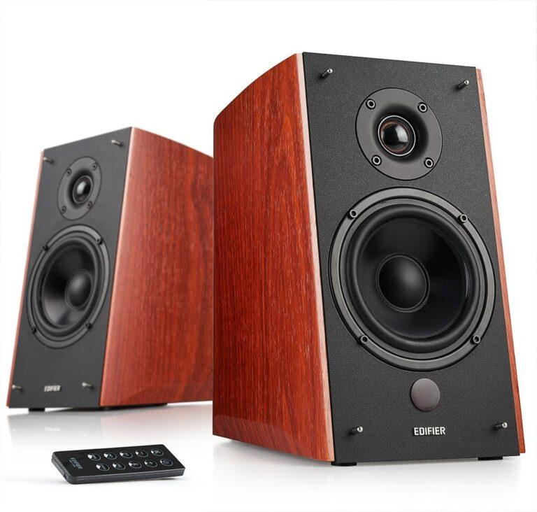 "BOXE EDIFIER 2.0, RMS: 120W (2 x 24W, 2 x 36W), bluetooth telecomanda wireless, volum, bass, treble, brown, ""R2000DB-BR"" (include TV 8 lei)"