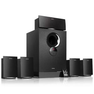 "BOXE EDIFIER 5.1, RMS: 93W (5 x 11W, 1 x 38W), telecomanda pe fir cu display 2″ LCD + telecomanda wireless, cu port USB/SD, black, ""R501TIII-BK"" (include TV 8 lei)"