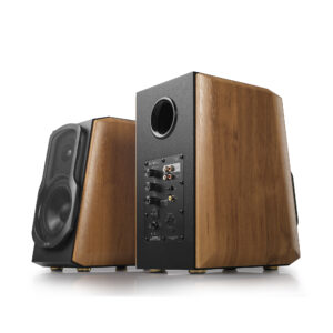"BOXE EDIFIER 2.0, RMS: 120W (2 x 25W, 2 x 35W), bluetooth telecomanda wireless, volum, bass, treble, coaxial, optic, brown, ""S1000MKII"" (include TV 8 lei)"