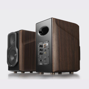 "BOXE EDIFIER 2.0, RMS: 130W (2 x 15W, 1 x 50W, 1 x 50W), bluetooth telecomanda wireless, volum, bass, treble, optical, coaxial, brown, ""S2000MKIII"" (include TV 8 lei)"