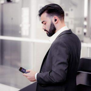 """CASTI EDIFIER wireless, tip intraauriculare – butoni, utilizare smartphone, microfon pe casca, negru, """"TWS6-BK"""" (include TV 0.15 lei)"""