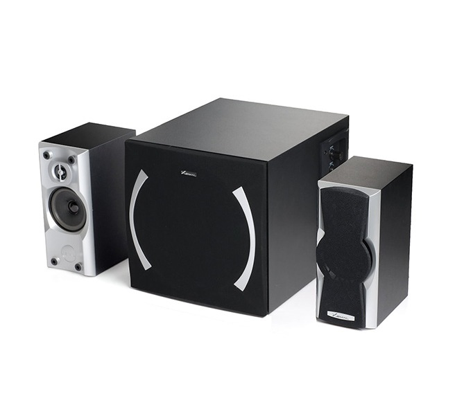 "BOXE EDIFIER 2.1, RMS: 40W (2x10W, 1 x 20W), volum, bass, black; raport semnal-zgomot: #85dBA, frecventa raspuns – sateliti: 190Hz – 20kHz, subwoofer: 20Hz – 170kHz, black,""X600-BK"" (include TV 8 lei)"