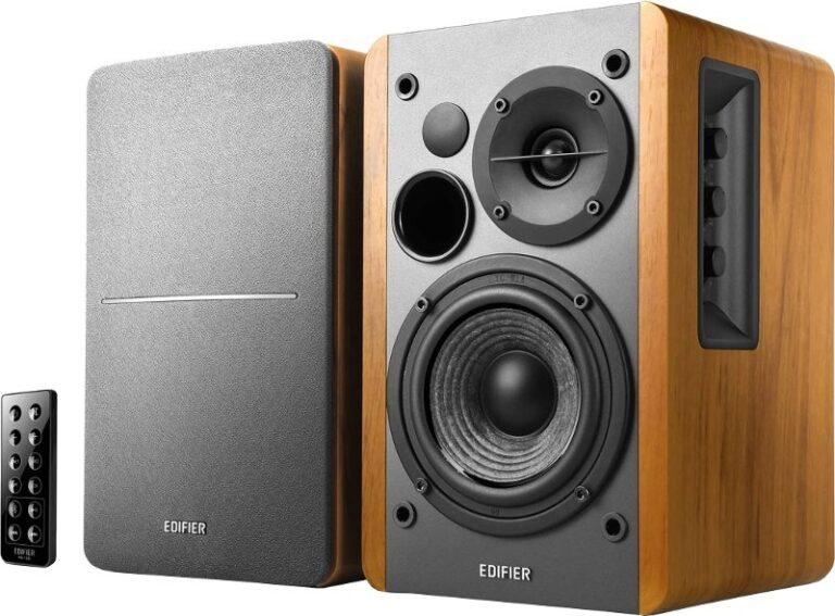"BOXE EDIFIER 2.0, RMS: 42W (2 x 21W), bluetooth telecomanda wireless, volum, bass, treble, optical, brown, ""R1280DBb"" (include TV 8 lei)"