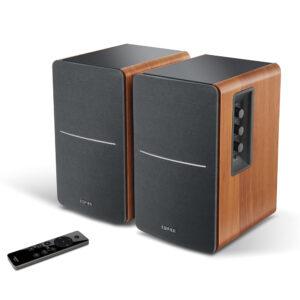 "BOXE EDIFIER 2.0, RMS: 42W (2 x 21W), bluetooth telecomanda wireless, volum, bass, treble, optical, sub-out, brown, ""R1280DBS-BR"" (include TV 8 lei)"