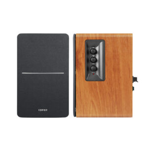 "BOXE EDIFIER 2.0, RMS: 42W (2 x 21W), telecomanda wireless, volum, bass, treble, sub-out, brown, ""R1280TS-BR"" (include TV 8 lei)"