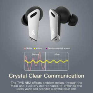 """CASTI EDIFIER wireless, tip intraauriculare – butoni, utilizare smartphone, microfon pe casca, alb, """"TWSNB2-W"""" (include TV 0.15 lei)"""
